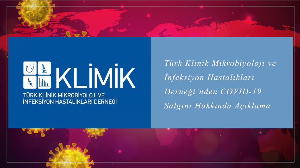 Türk Klinik Mikrobiyoloji ve İnfeksiyon Hastalıkları Derneği'nden COVID-19 Salgını Hakkında Açıklama
