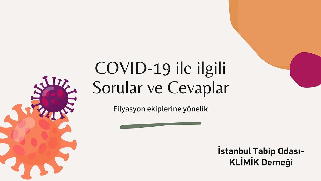 COVID-19 ile ilgili Sorular ve Cevaplar - Filyasyon Ekiplerine Yönelik